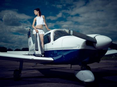 Fashion auf dem Airfield 2016 © Christian Kuhlmann, Model: Alysha
