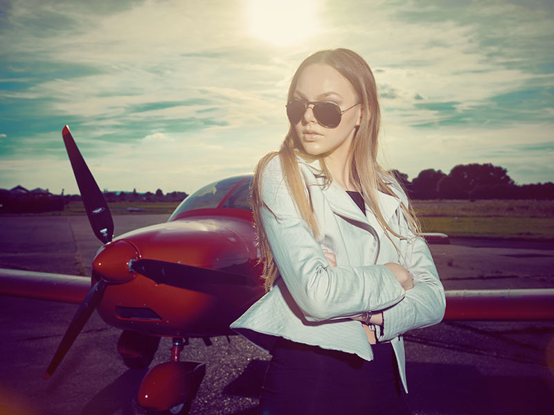 Fashion auf dem Airfield 2016 © Christian Kuhlmann, Model: Jill