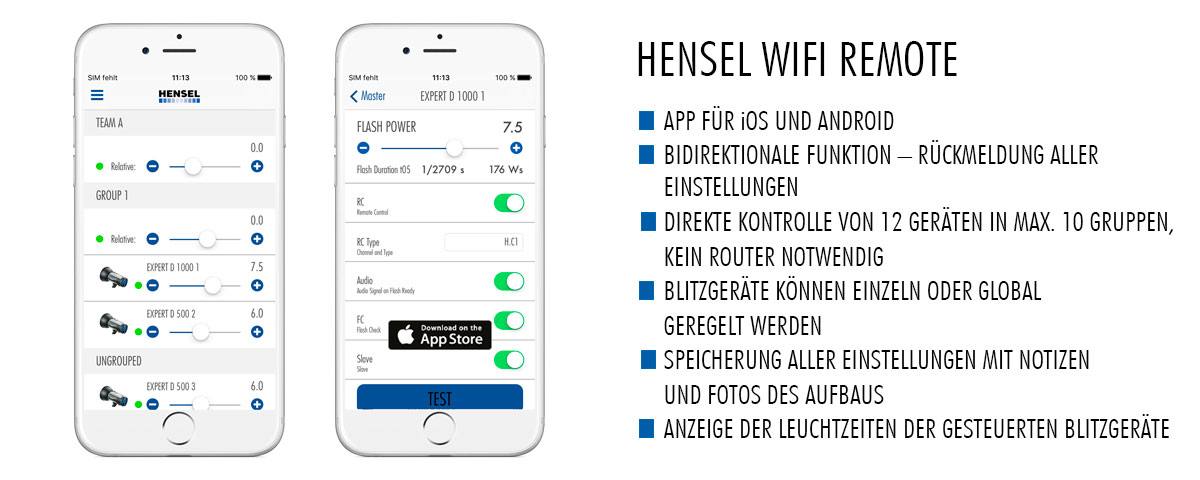 Hensel WIFI REMOTE - Die Highlights