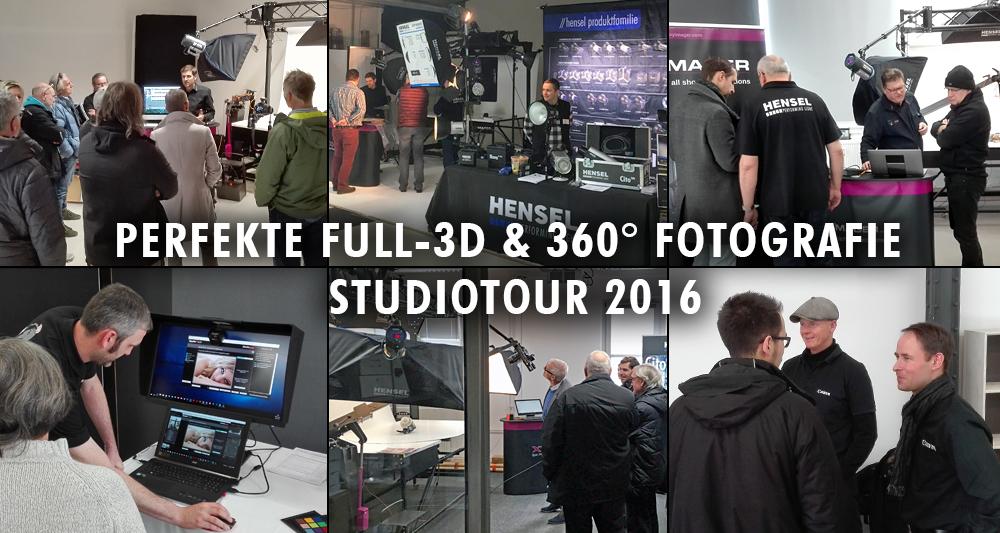 Impressionen - das war die Full-3D & 360° Fotografie Studiotour 2016