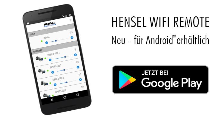 Hensel WiFi Remote - Jetzt für Android!